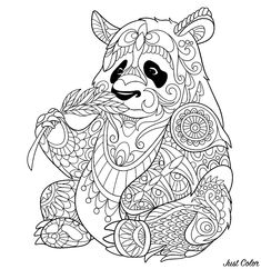 """Panda Coloring Pages Idea. Looking for Panda coloring pages? find out or collection of panda images to color here. Huge pandas (frequently described as merely """" Panda Coloring Pages, Colouring Pics, Doodle Coloring, Mandala Coloring, Coloring Book Pages, Printable Coloring Pages, Coloring Sheets, Free Coloring, Mandalas Painting"""