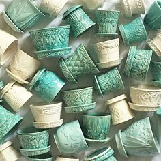 I love vintage McCoy pottery, especially in these colors