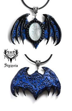 #clay #styxeria #OrnaBat #claypendant #gothic #bat #artist #etsy #jewelry #deviantart #batpendant #gothicjewelry #gothicpendant #handmade #pendant #ooak #dark #necklace #clay #polymer