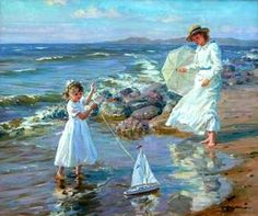 A Windy Day     Alexander Averin (1952, Russian)