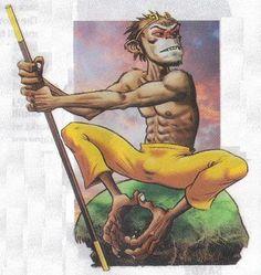 monkey king Jamie Hewlett Monkey Illustration, Fantasy Illustration, Monkey King, Monkey Monkey, Jamie Hewlett Art, Gorillaz Art, King Tattoos, Journey To The West, Year Of The Monkey