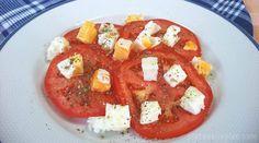 Ensalada de tomate y huevo - Platos Plis Plas