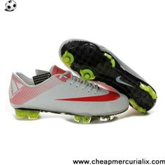 Latest Listing Cheap CR Nike Mercurial Vapor Superfly III FG in White Red Soccer Shoes For Sale