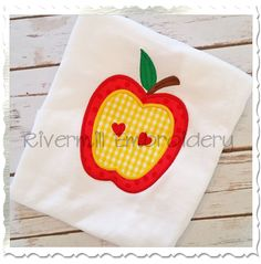 $2.95Applique Apple With Hearts Machine Embroidery Design
