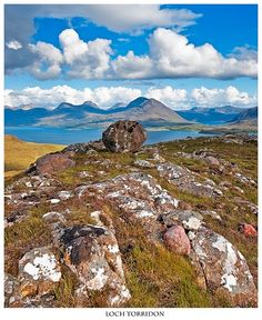 Loch Torridon and mountains around it in northern Scotland