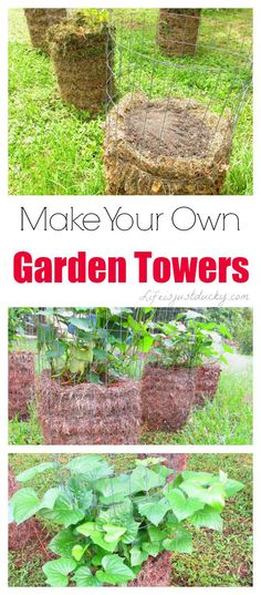 DIY Garden Tower - How and why to make your own garden towers - These solve many gardening challenges.
