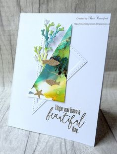 I didn't expect to be back so soon but I came up with a card for this months challenge at CAS Watercolour Challenge . Card Tags, I Card, Alcohol Ink Crafts, Nautical Cards, Beach Cards, Stampin Up Catalog, Beautiful Handmade Cards, Stamping Up Cards, Card Sketches