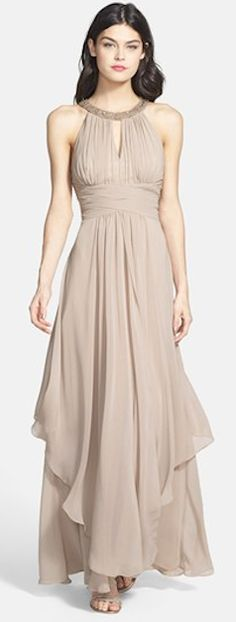 Embellished Tiered Chiffon Halter Gown http://rstyle.me/n/edzdznyg6-super classy