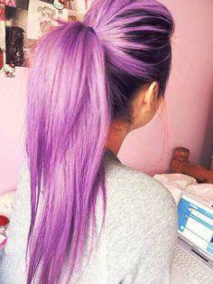 gorgeous bright light purple hair