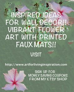 A wonderful group to join to get helpful hints on how to make your home and surroundings more decorative and exciting. Also a great source of coupons for purchasing in Etsy shop VintageArtForLiving.
