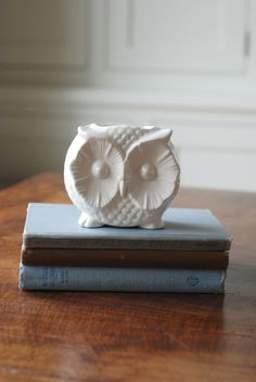 Vintage owl container