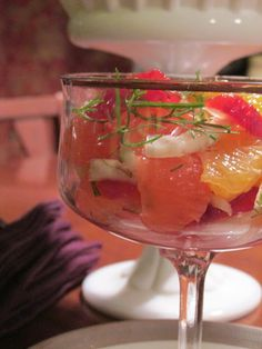 Fennel and Citrus Salad American Vegetarian: February 2013 #salad #vegan #holiday #americanvegetarian