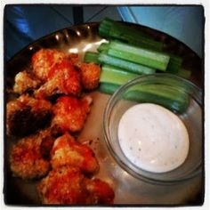 Snugs and The Man: Baked Buffalo Style Cauliflower Recipe