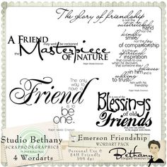 Friendship Ralph Waldo Emerson Wordart