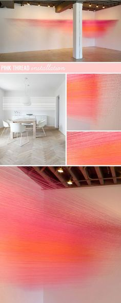 pink thread installation