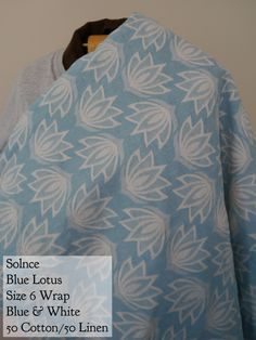 BWI of DC-MD-VA: Solnce Wrap Blue Lotus Linen Blend Size 6