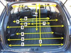 Subaru 2015 Outback cargo area dimensions #2