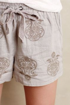 Malini Embroidered Shorts - anthropologie.com