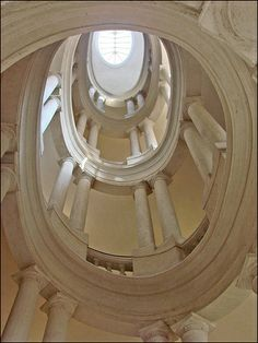 Palazzo Barberini (Rome) helicoidal staircase by Francesco Borromini, early 17th Century.