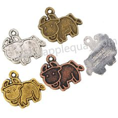 Zinc Alloy Taurus Charms Setting,Epoxy,Cadmium And Lead Free,Various Color For Choice,Length*Width*Thick:Approx 21*18*2 mm,Hole:Approx 1.5mm,Sold By Bags,NO 000007   Unit Price:USD 0.035  MOQ:1000PCS