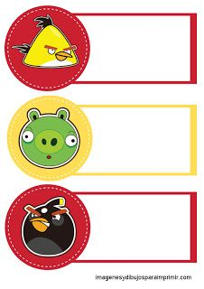 Etiquetas para cadernos angry birds Cumpleaños Angry Birds, Festa Angry Birds, Angry Birds Imagenes, Diy Name Tags, Envelopes, Preschool Names, Bookmark Craft, Printable Labels, Printable Bookmarks