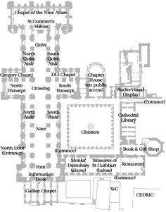 Durham Cathedral Plan Durham Cathedral Cathedral Architecture History
