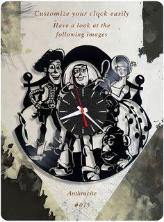 Toy Story vinyl record clock, Disney wall clock. vinyl clock, birthday gift 015 #newlifeofvinyl