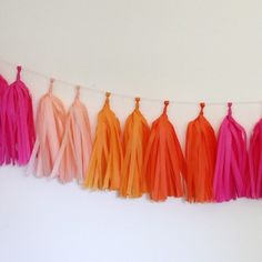 Tissue Paper Tassel Garland Kit, Bright 6' | 1 ct for $12.95 in Banners & Garlands - Decorations