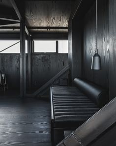 Check into THE KRANE, a modern, minimalist hotel for two that's located in an old coal crane on the Nordhavn harbor in Copenhagen. Dark Interiors, Hotel Interiors, Copenhagen Hotel, Copenhagen Denmark, Scandinavian Interior Design, Stores, Cheap Home Decor, Interior And Exterior, Interior Shop