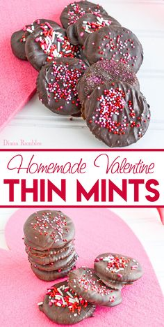 Thin Mint Cookies Recipe - Do you love Thin Mints Girl Scout Cookies? Create your own Girl Scout Cookies at home using this simple copycat recipe that requires no baking. #ThinMints #GirlScouts #GirlScoutCookies #copycat #recipe