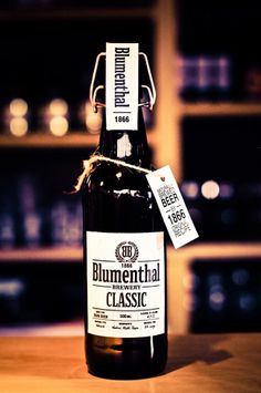 Blumenthal Original Beer   Packaging of the World: Creative Package Design Archive and Gallery