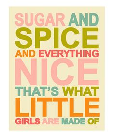 sugar and spice wallart