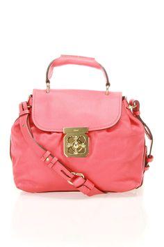 Chloe Elsie Shoulder Bag In Red
