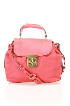 Chloe Elsie Shoulder Bag In Red