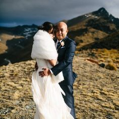 A helicopter, a flowy dress, and an epic sunset are the recipe for complete magic in this epic New Zealand wedding from Chaz Cruz!
