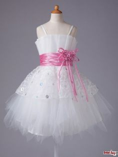 Flower Girl Dresses with Pink Belt