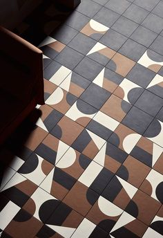 Mutina Puzzle, designed by Barber & Osgerby… Floor Patterns, Textures Patterns, Floor Design, Tile Design, Mosaic Tiles, Wall Tiles, Tiling, Mosaic Bathroom, Mutina Puzzle