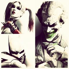 Batman: Arkham City I dont know who the sin that random chick in the corner is but the other two are mega boss!!