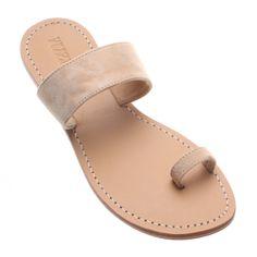 Acampo- Women's Suede Toe Ring Sandal   Mystique Sandals Toe Ring Sandals, Beige Sandals, Shoes Flats Sandals, Leather Sandals Flat, Cute Sandals, Shoe Boots, Flat Shoes, Flat Sandals, Mystique Sandals