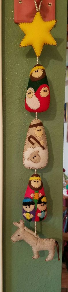 A hanging felt nativity i made.