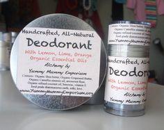 Handcrafted, All-Natural, Baking Soda Free Deodorant - Citrus Blend - Yummy Mummy Emporium