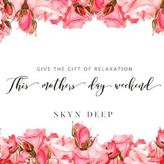 What better way to let your Mum know she's appreciated? Contact us for more information on our exclusive & limited Mother's Day package.   relax@skyndeep.co.uk Mobile Massage, Pamper Party, Massage Therapy, Own Home, Appreciation, Relax, Health, Gifts, Presents