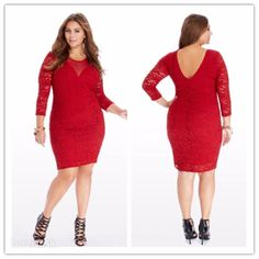 Cheap Dresses, Buy Directly from China Suppliers:plus size women clothing Casual Lace dresses big sizes 2015 new red Backless women Autumn dress Bodycon party dress vestidos Plus Size Mini Dresses, Big Size Dress, Plus Size Outfits, Bodycon Dress Parties, Party Dress, Cheap Dresses, Casual Dresses, Lace Dresses, Plus Size Womens Clothing