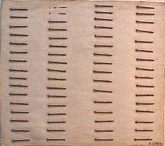 Arte Povera - Rusty nails on canvas,  anita gibson 1968