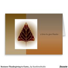 Business Thanksgiving to Customers/Clients Greeting Card