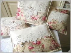 pillow from linens...these are beautiful but the original pin is in french so unless you speak french or have a friend...