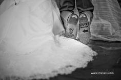 Solas dos sapatos dos noivos decoradas   Casar é um barato
