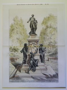 Lafayette Monument, Washington DC, 1890. Original Plan. Falguiere/Pujol.