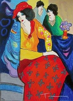 ITZHAK TARKAY (1935-2012) Itzhak Tarkay has achieved international recognition as a leading representative of figurative artists. The inspiration for his work clearly lies with French Impressionism, p