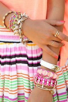 hermosas pulseras rosadas ♡